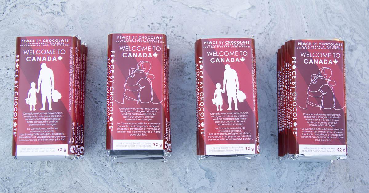 quatre tablettes Peace by Chocolate