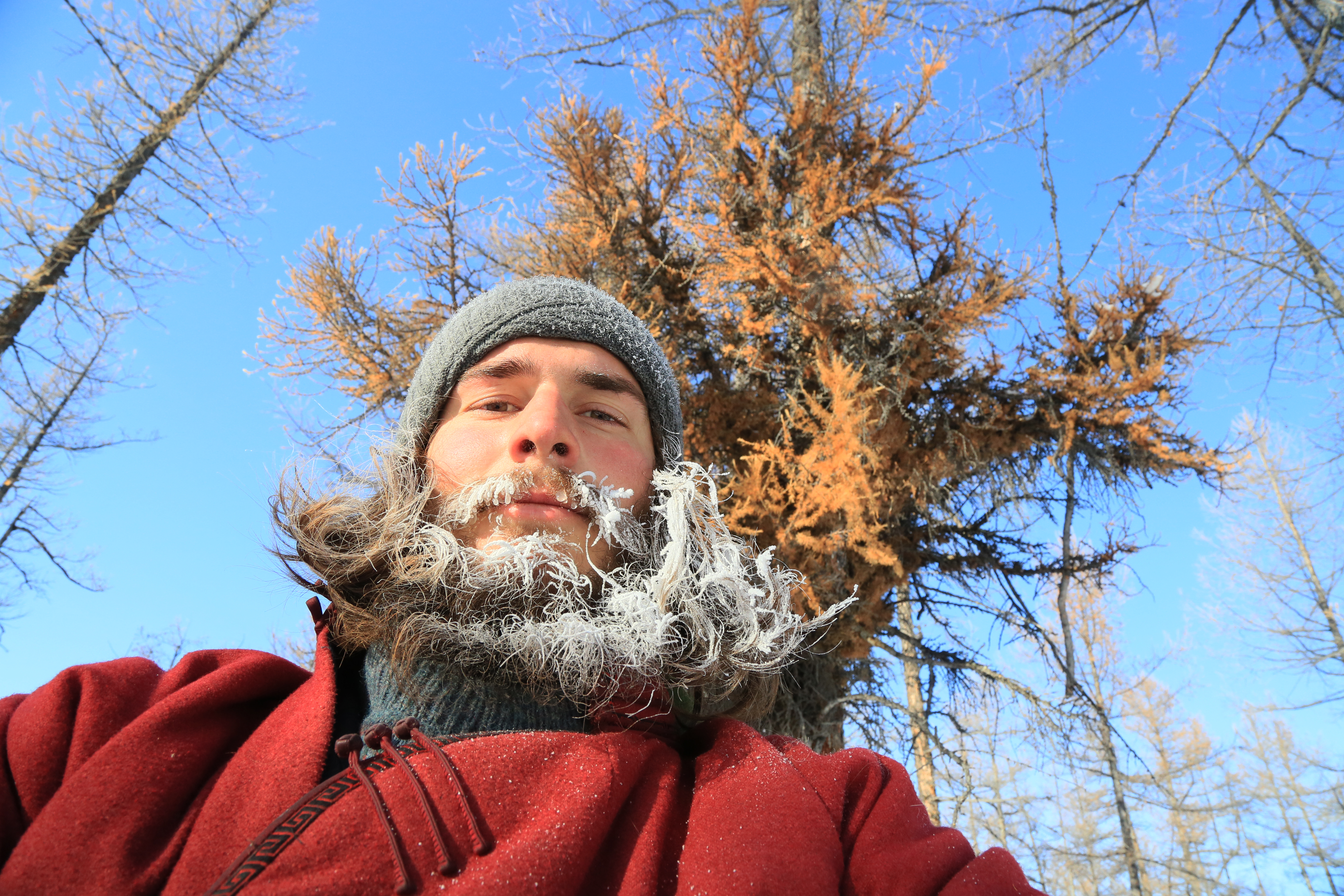 Rasiulis portrait with his beard full of ice and snow