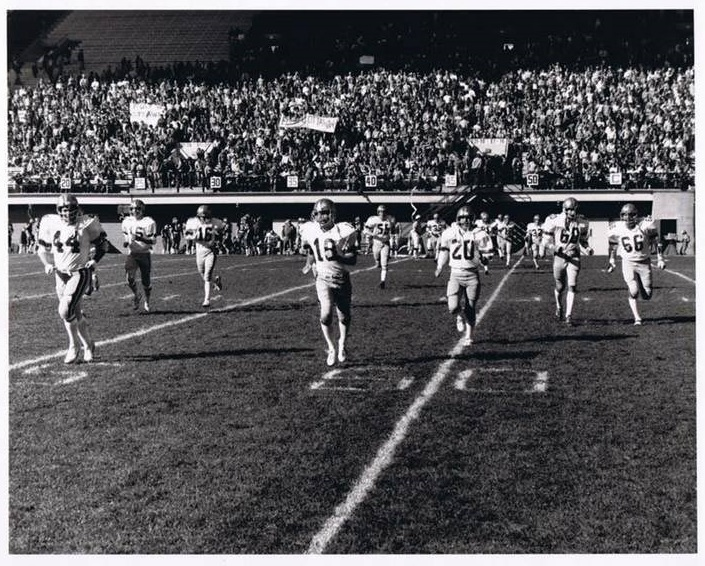 L'équipe de football des Gee-Gees de 1977