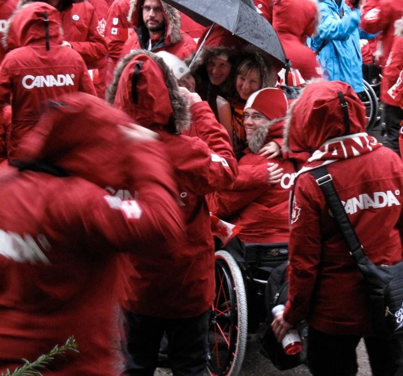 Les athlètes canadiens aux Jeux paralympiques à Vancouver.