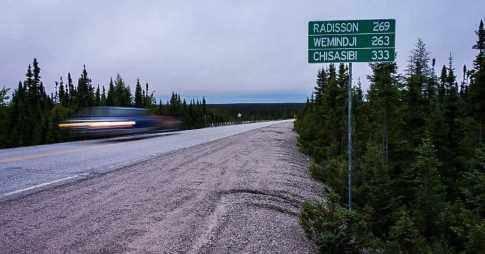 Route de la région du Nord du Québec