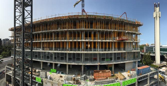Le complexe STIM en construction.