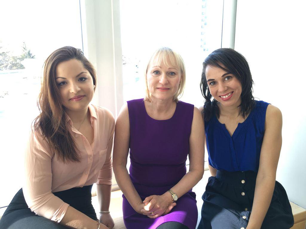 Sawsane El Amiri, Diana Koszycki and Amélia Dowell.