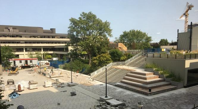 Terrasse en construction.