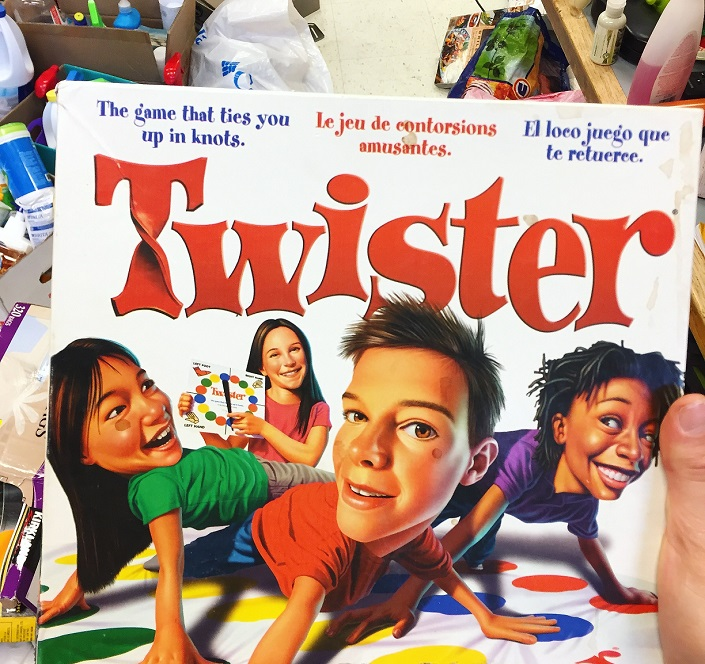 The board game Twister.
