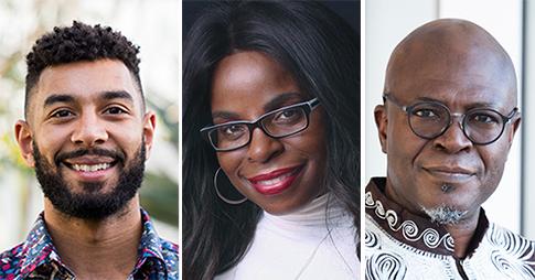 Image de compilation, de gauche à droite, Peter Soroye, Toni Francis et Boulou Ebanda De B'Beri.