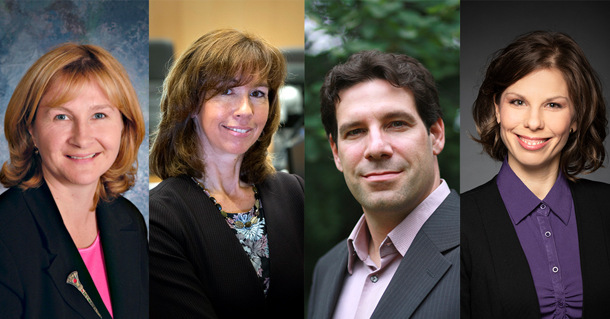 From left to right, Heather McLeod-Kilmurray, Nathalie Chalifour, Eric Champagne and Marie-France Fortin.
