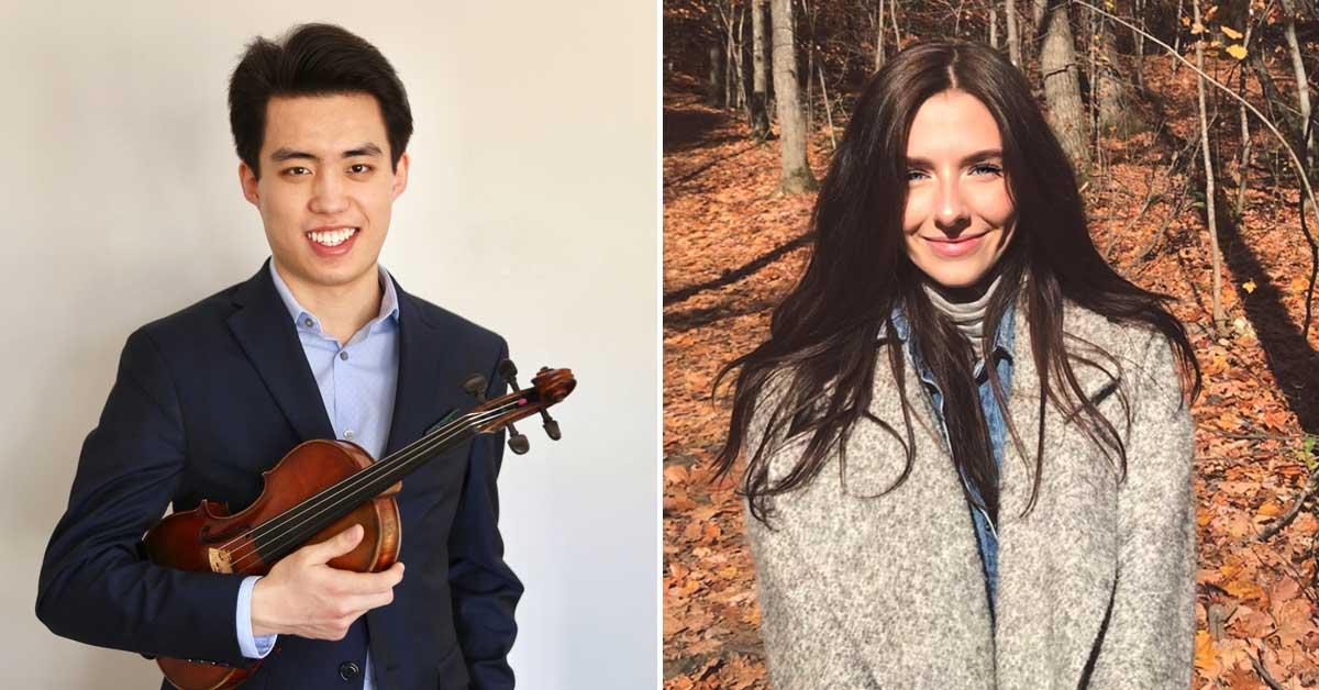 Portraits of Yuchen Dai, left, and Stephanie Skanes, right.
