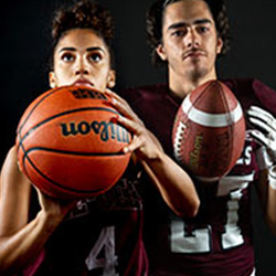 Two young Gee-Gees athletes.