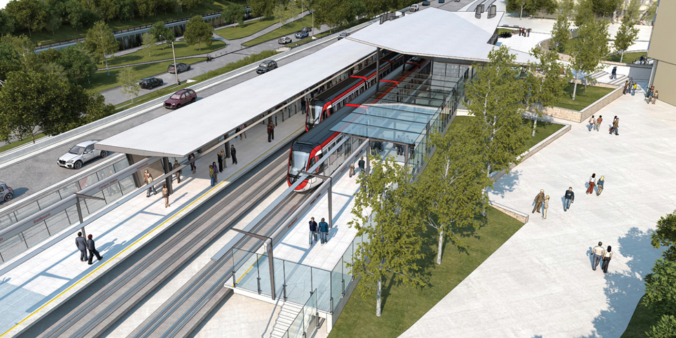Campus station rendering