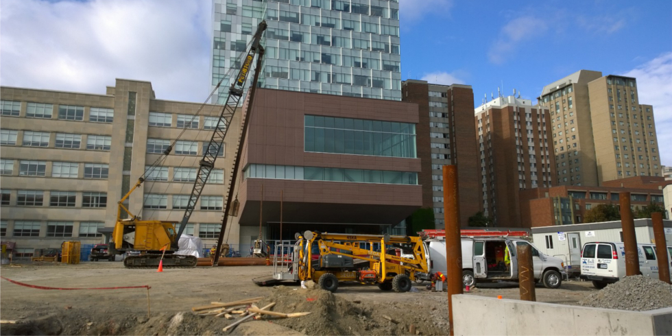 Image of University Square construction