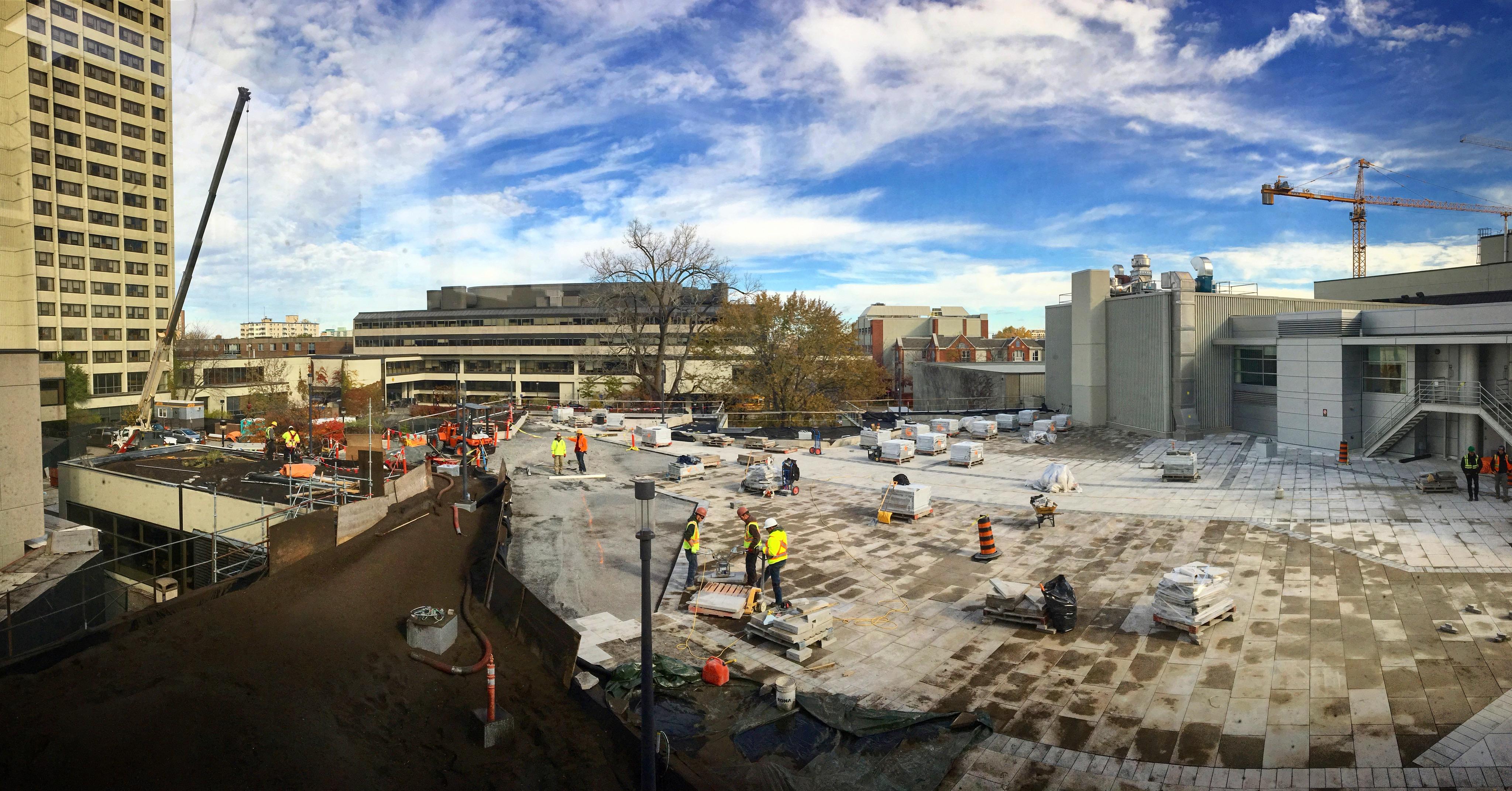 Image de la construction du campus vue au-dessus