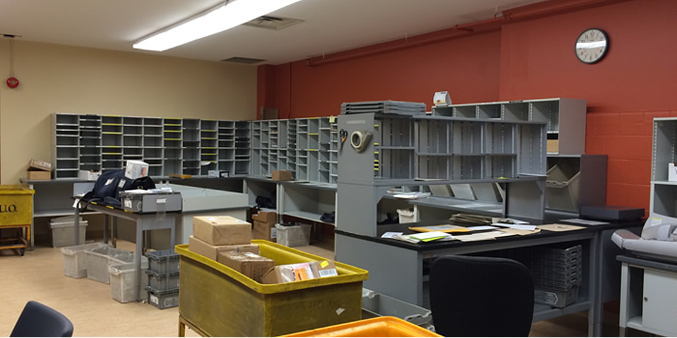 Photo of the mail room