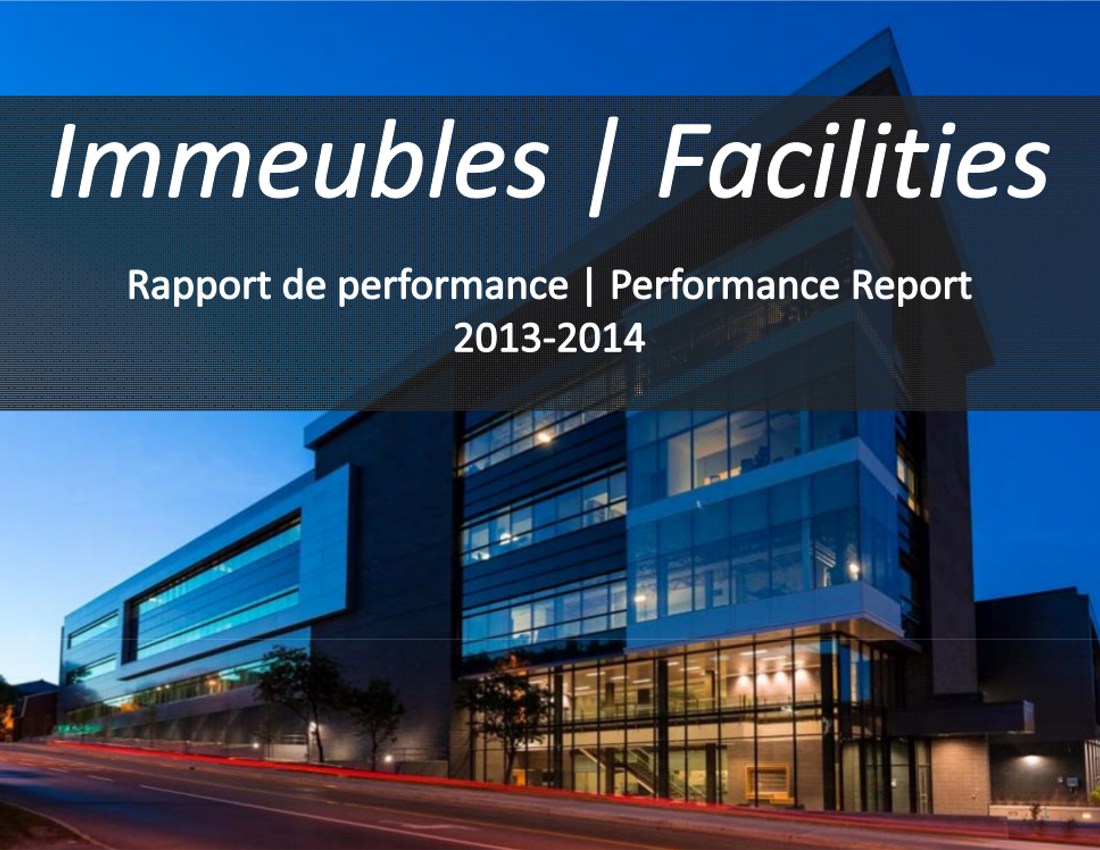 Performance report cover