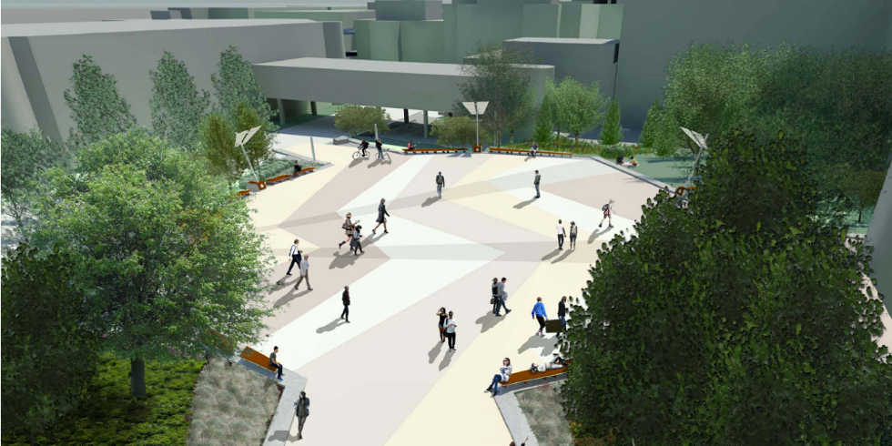 Rendering of University Square
