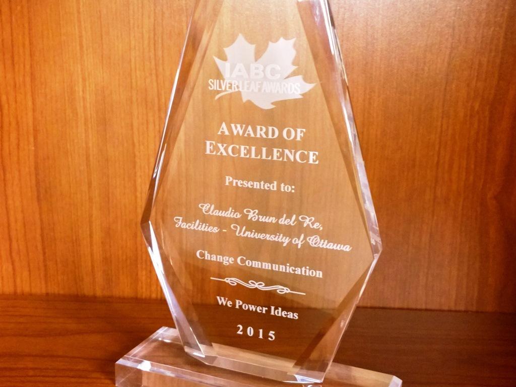 IABC Silver Leaf Award photo