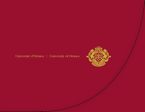 Jacket for University of Ottawa diploma