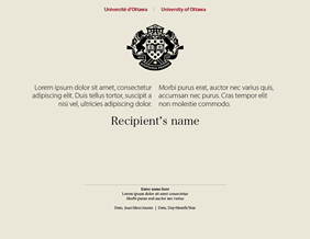 University of Ottawa certificate
