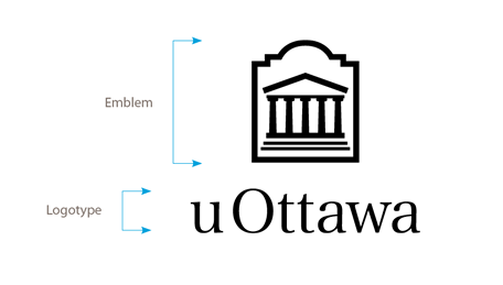 Vertical black University of Ottawa logo on white background