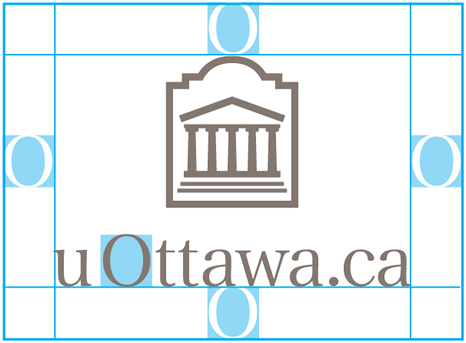 Protected area for vertical uOttawa.ca logo