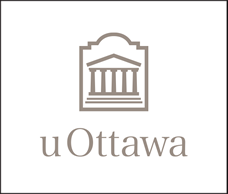 Grey vertical University of Ottawa logo on white background
