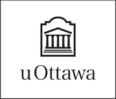 Black vertical University of Ottawa logo on white background