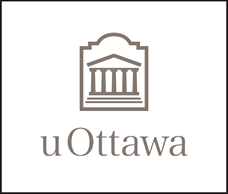 Dark grey vertical University of Ottawa logo on white background