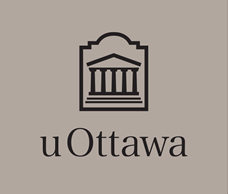 Black vertical University of Ottawa logo on light grey background