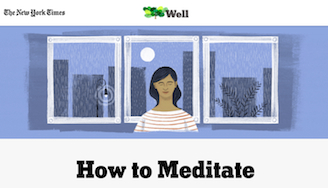 New York Times How To Meditate