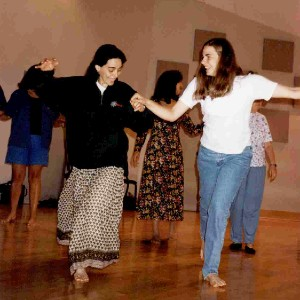 Pair of people at a Dalcroze session