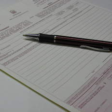 Picture of the paper appeal form