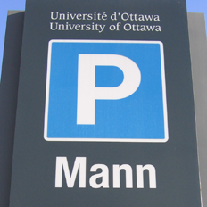 uOttawa Mann Garage's sign