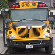 Picture of the front of a yellow school bus