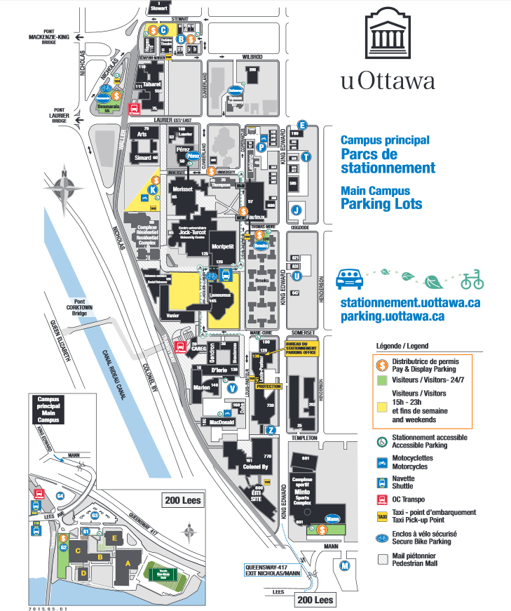 University Of Ottawa Map Parking Maps | Parking and Sustainable Transportation | University