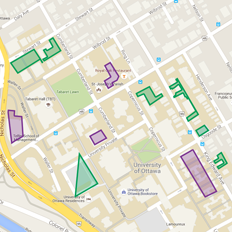 Screenshot of uOttawa Main Campus Parking Map