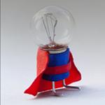 Picture of a superhero lightbulb