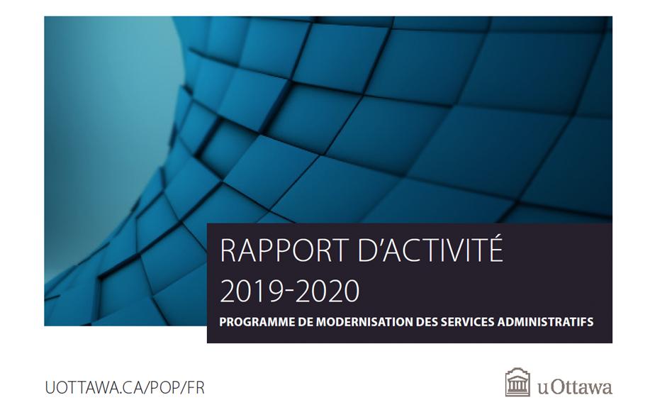 Page couverture du Rapport d'activité 2019-2020 du Programme de modernisation