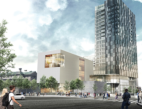 Artist's rendering of Ottawa's new Arts Court building.