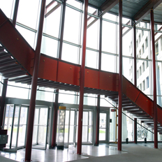 Red Stairs inside SITE building