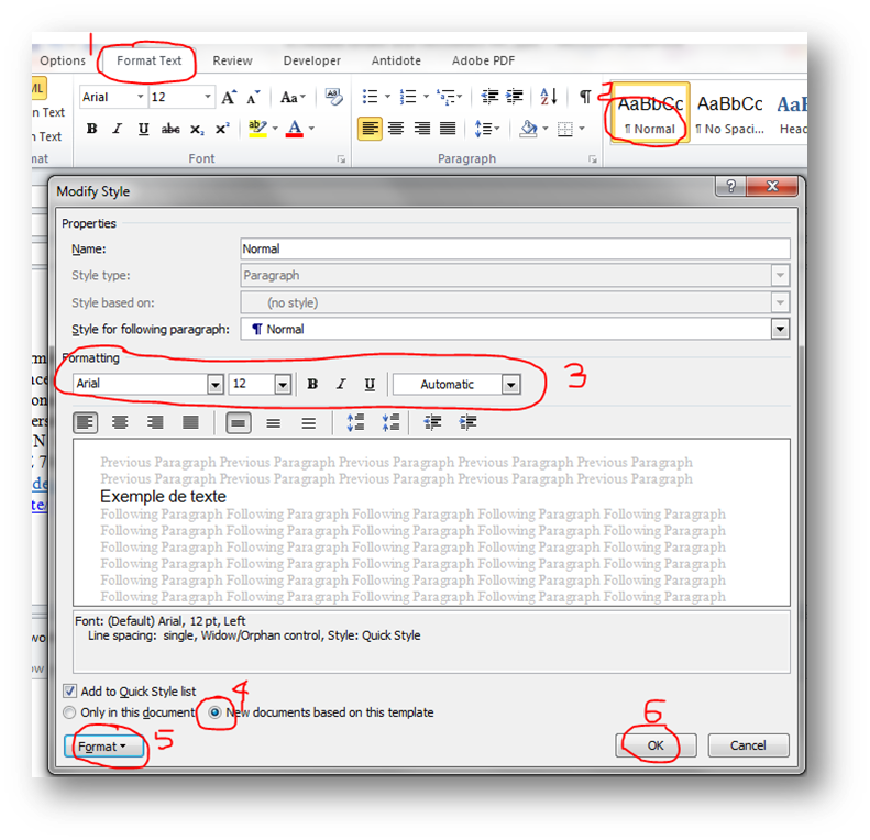 Modifying headings and styles in Outlook