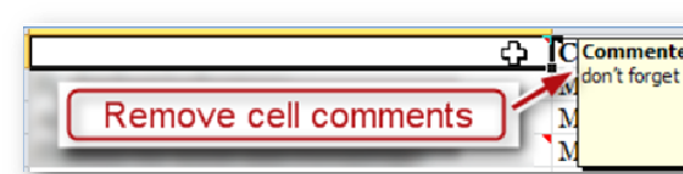 Remove cell comments