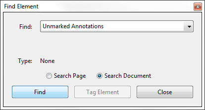 Find unmarked annotations