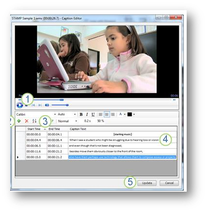 Audio and video closed captioning