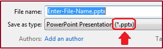 Save your PPT presentation in an accessible format