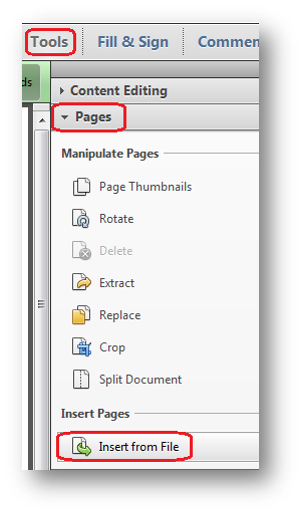 Inserting pages from another PDF