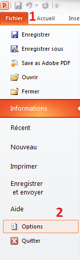 Options du document