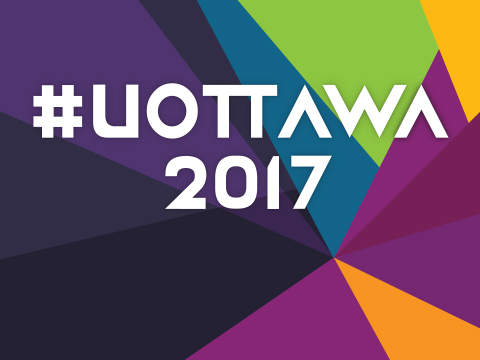 Colourful banner with overlay text #uOttawa2017.