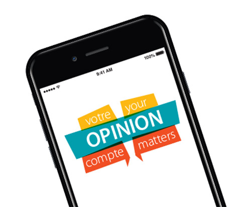 """Cellphone with the words """"Your Opinion Matters"""""""