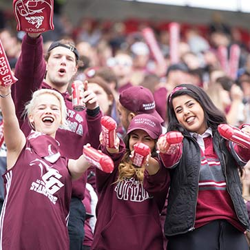 Gee-Gees fans at the Panda game.