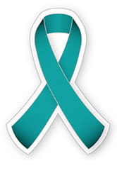 Teal ribbon | Ruban sarcelle